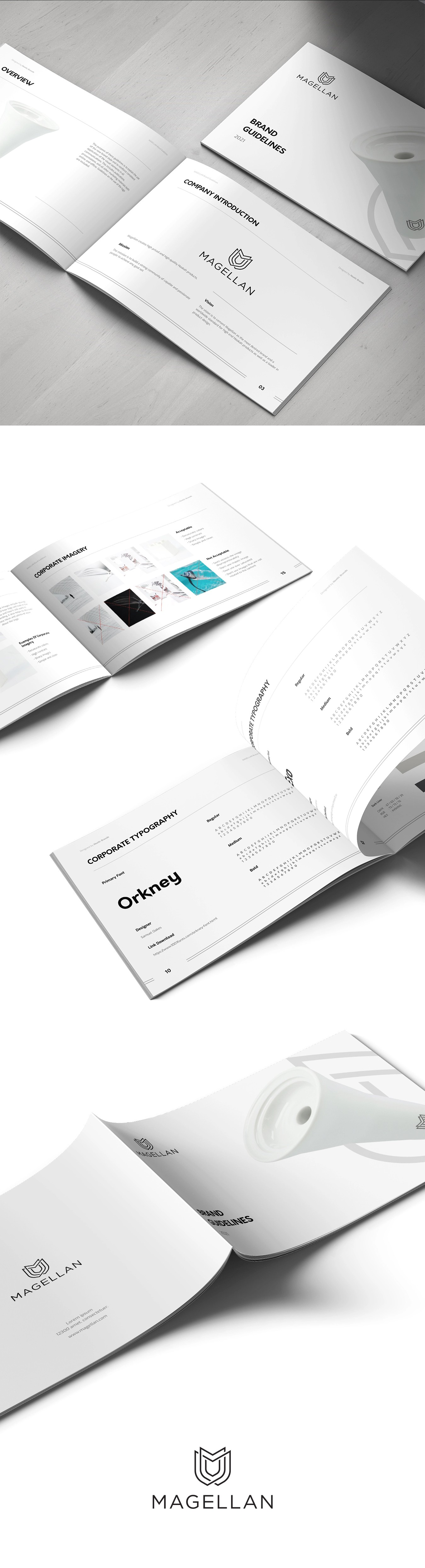 Brand guide and brand identity pack