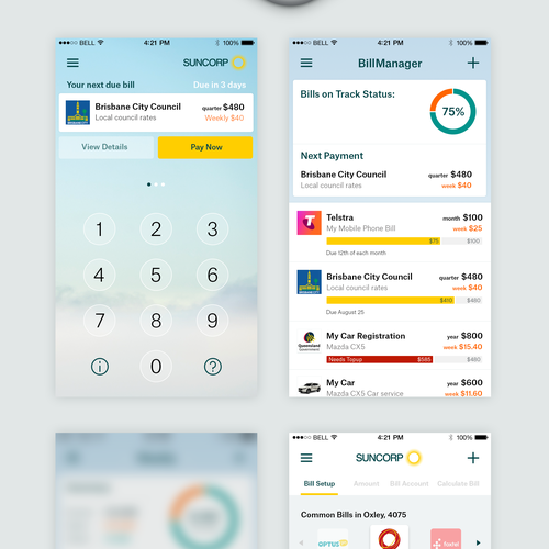 iPhone app design