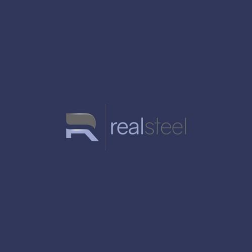 "Design a metal art company logo for ""realsteel"""