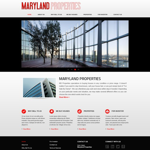 Redesign Maryland Properties