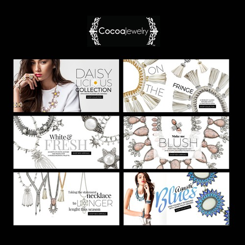Web banners required for an edgy, cool fashion brand