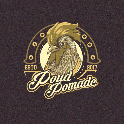 rooster pomade illustration concept