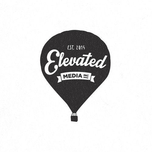 Vintage Logo For Elevated Media Inc.