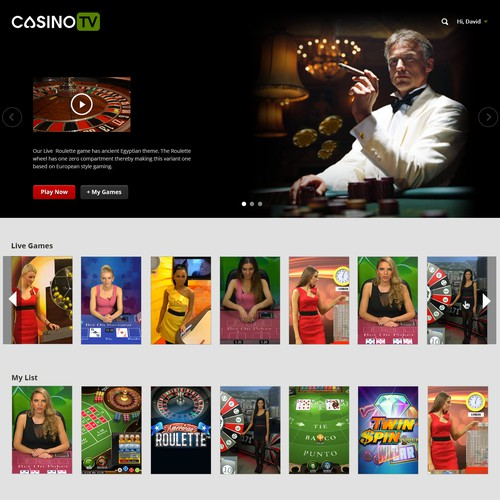 Create a stylish, creative one page web design for casino website