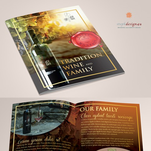 Modern Flyer for winery Family Business