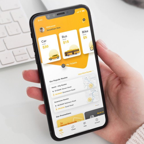 Transport Mobile App Design