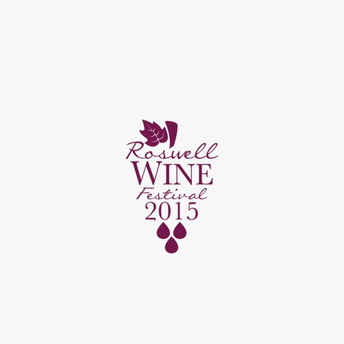 Logo for Roswell Wine Festival.