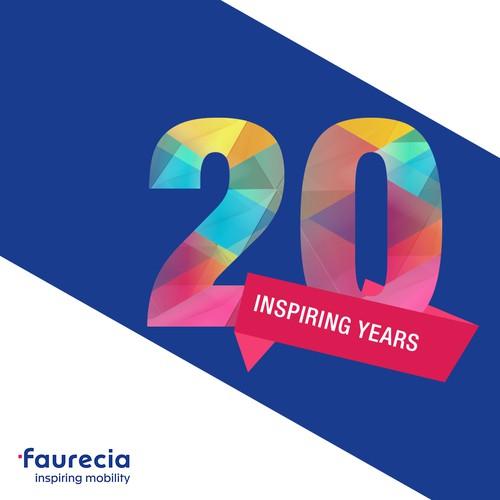 Faurecia 20th anniversary logo