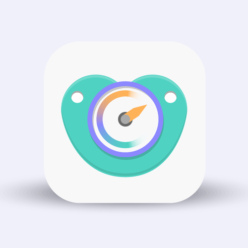 Create an mobile application icon for baby oriented application