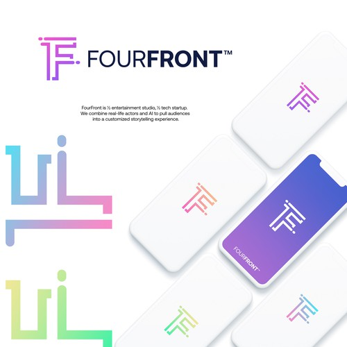 Fresh and techy logo for FourFront