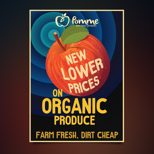 Retro Style Produce Poster