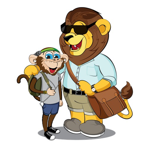 Mascots for on-line travel company