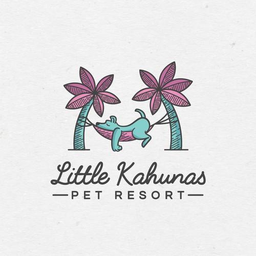 Illustrative logo for pet resort