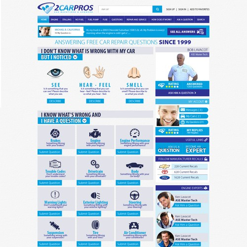 Create New 2CarPros Home Page Design - Wireframe Provided