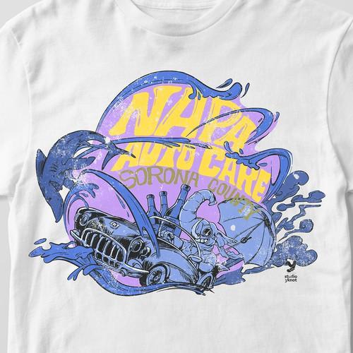 Tshirt illustration with typography