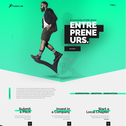 Fruition Lab landing page