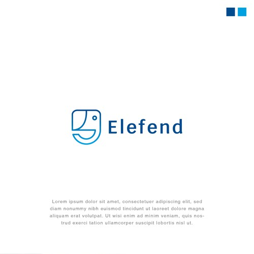 Logo design for Elefend