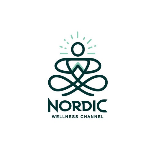 Strong and balanced logo for Nordic wellness channel