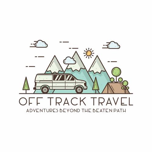 Line art logo concept for outdoor campany