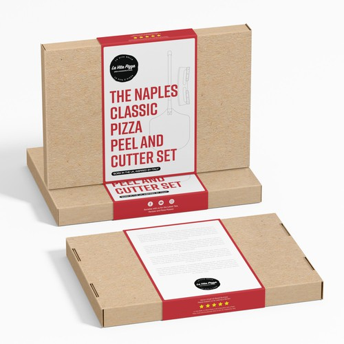 The Naples Classic Pizza Peel and Cutter Set