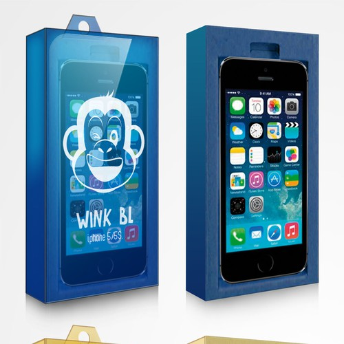 Creative iphone 5 cover case packaging
