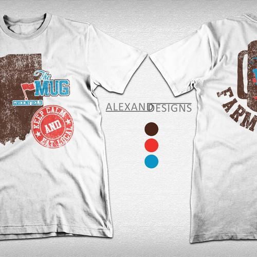 Create a vintage meets modern flair t-shirt/logo