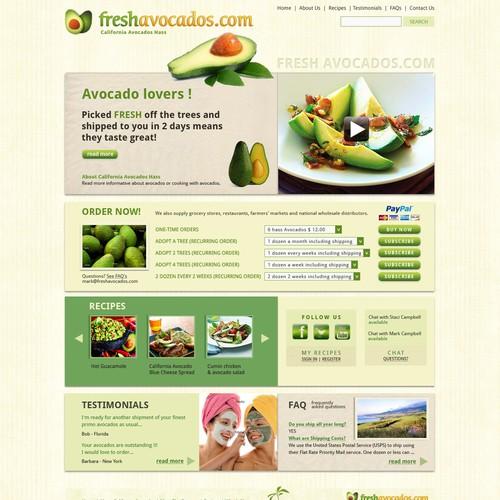 FreshAvocados.com website (1 page)