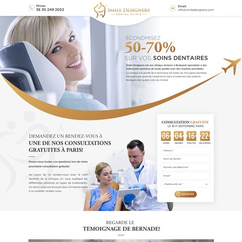 Highly converting Dental clinic landing page design