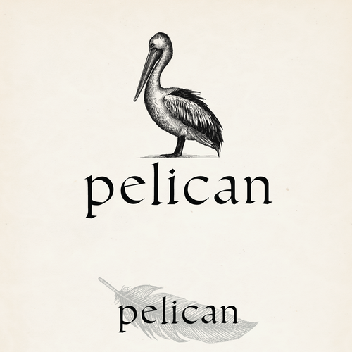 Hand drawn logo and brand identity pack for Pelican
