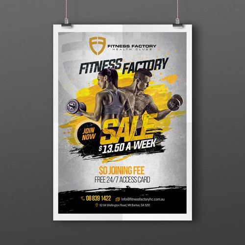 Poster for an awesome gym sale