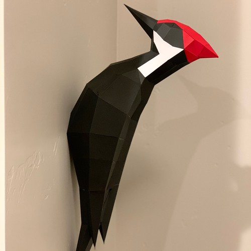 Pileated woodpecker Paper Model