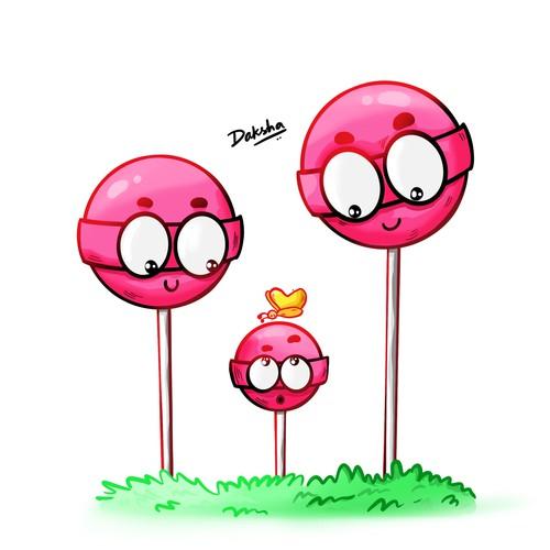 A Happy Lollipop Family