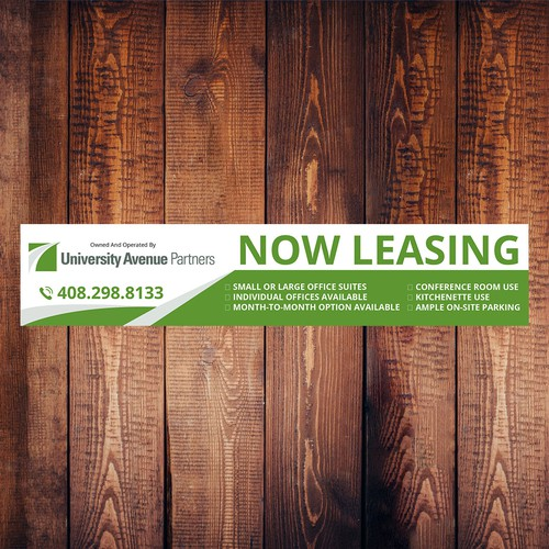 banner design now leasing