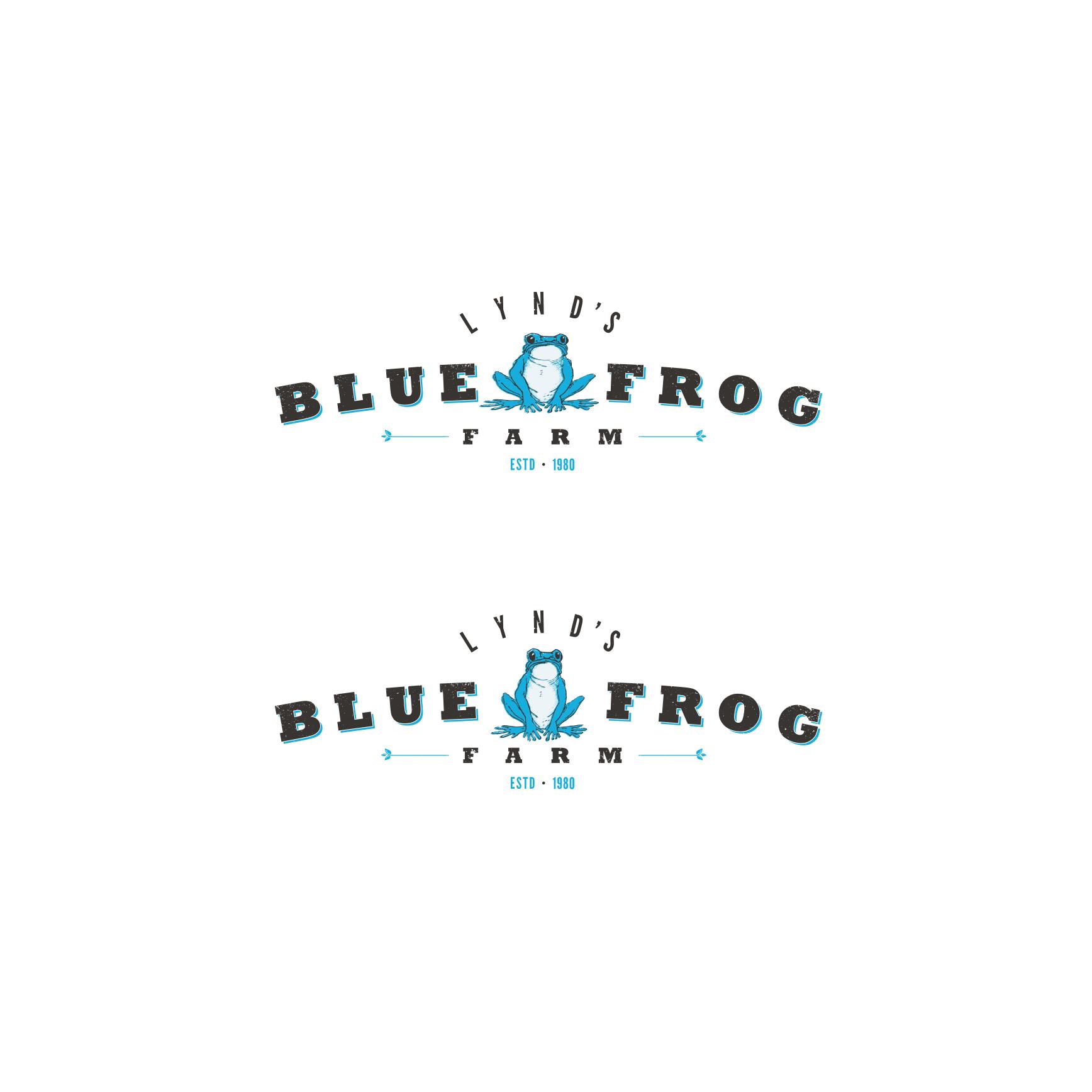logo for Lynd's Blue Frog Farm