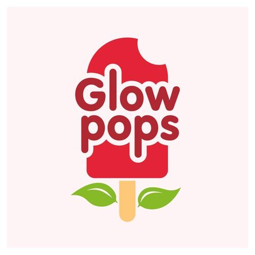 Logo for 100% Natural Fruit & Veg Ice Pops 'Glow Pops'