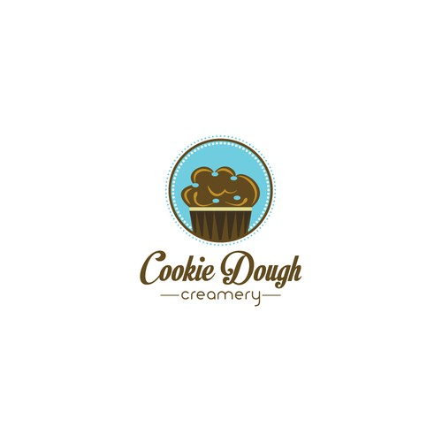 Create a logo for an ice cream business - Cookie Dough Creamery