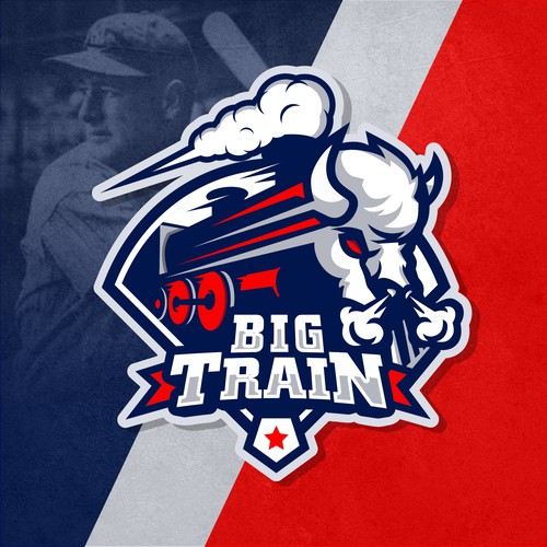 """Big Train"" logo (Professional baseball player)"