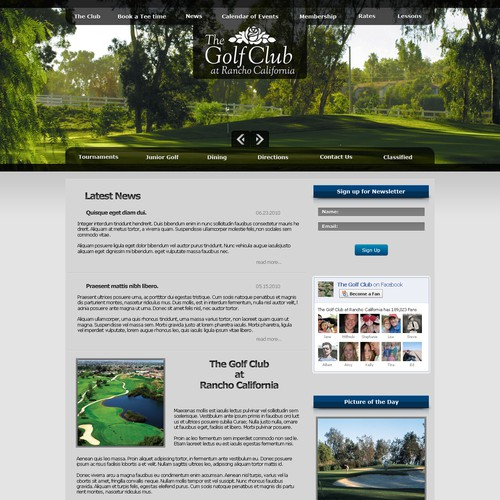 Golf Course web site needs a make over badly!!!