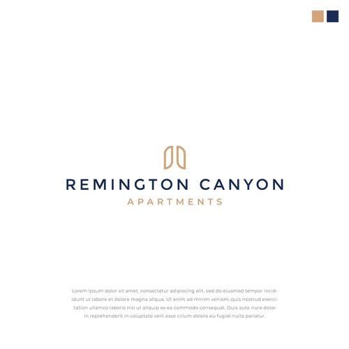 Logo design for Remington Canyon Apartments
