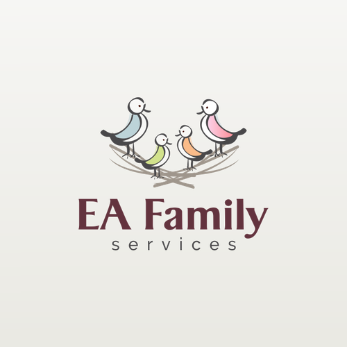 EA Family services logo design