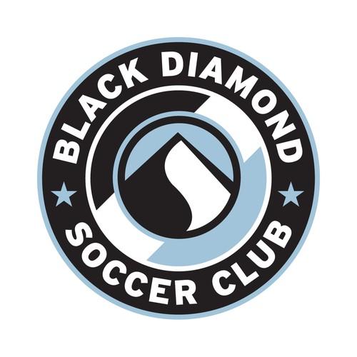 Create the next logo for Black Diamond Soccer Club