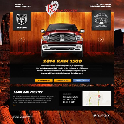 Create a landing page for www.RAMCOUNTRY.com - Texas Truck Dealership