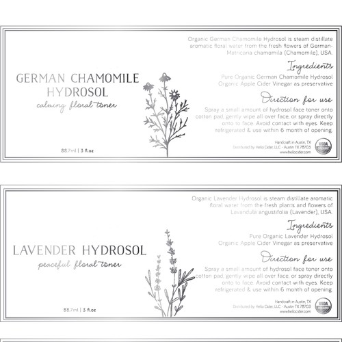 Delicate cosmetic labels
