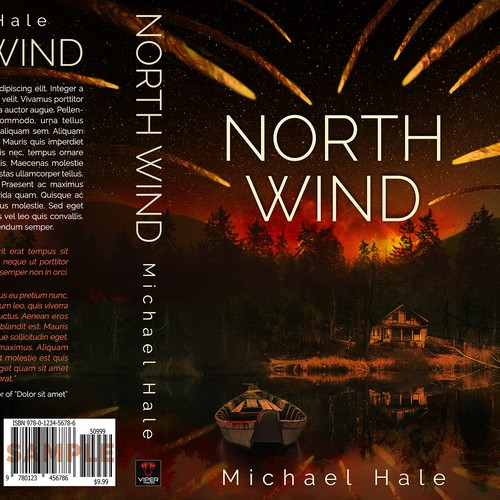 Cover for a debut author's new thriller NORTH WIND