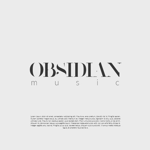Logo for Obsidian music label