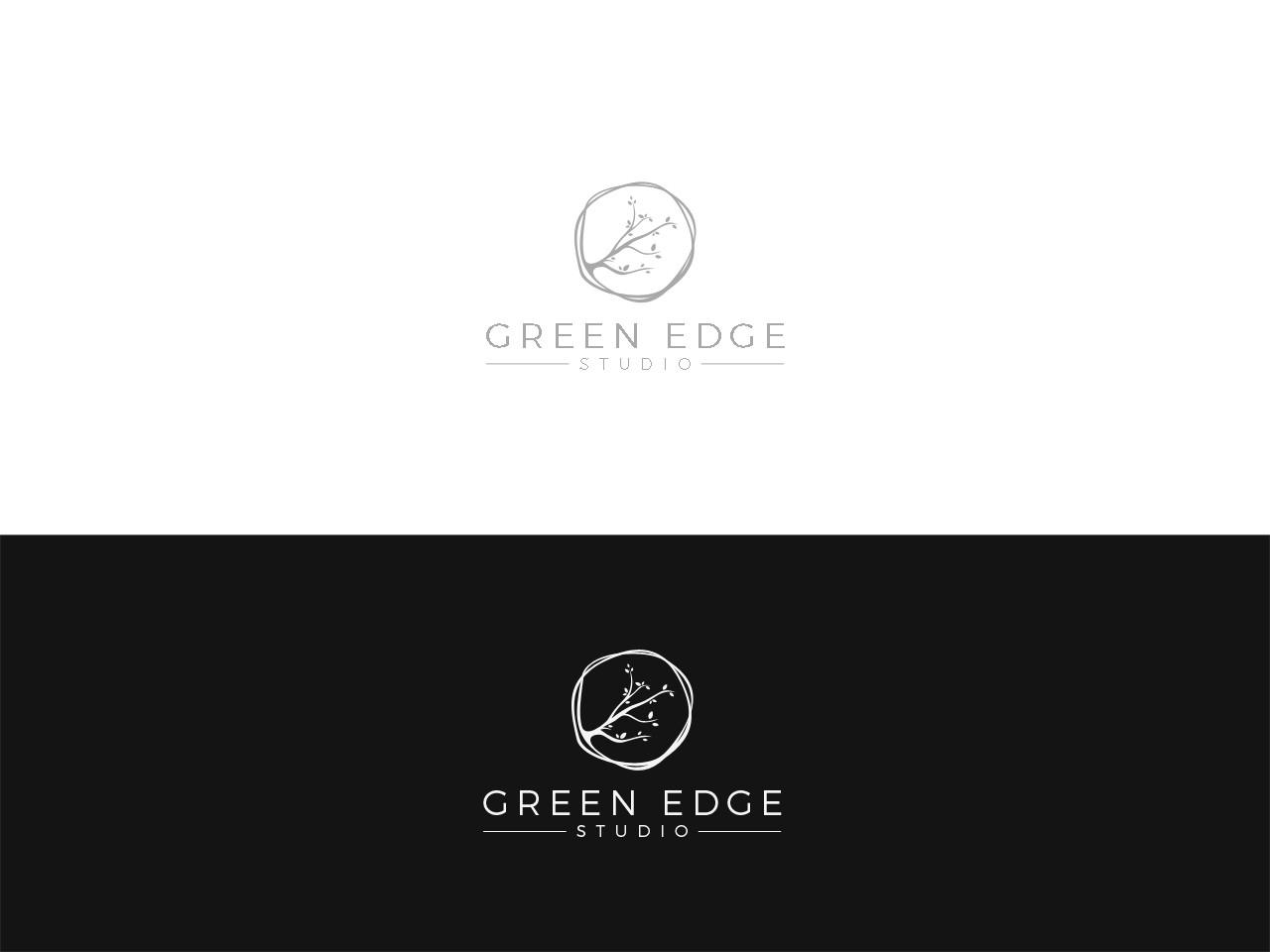 Design a nature-focused logo for Green Edge Studio, a sustainable landscape design start-up.