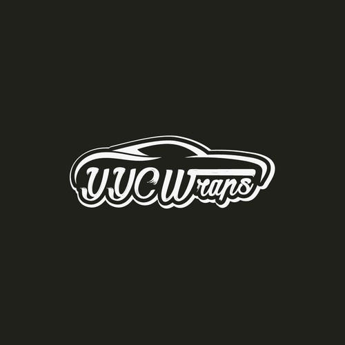 Bold logo for car wrap company