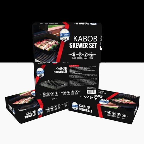 Gifts for Guys Grill Kabob Skewer Set