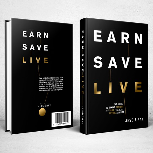 Book cover design for Earn Save Live
