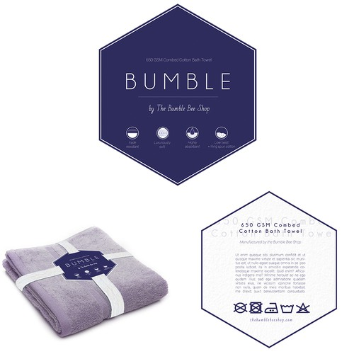 Packaging for a luxe towel